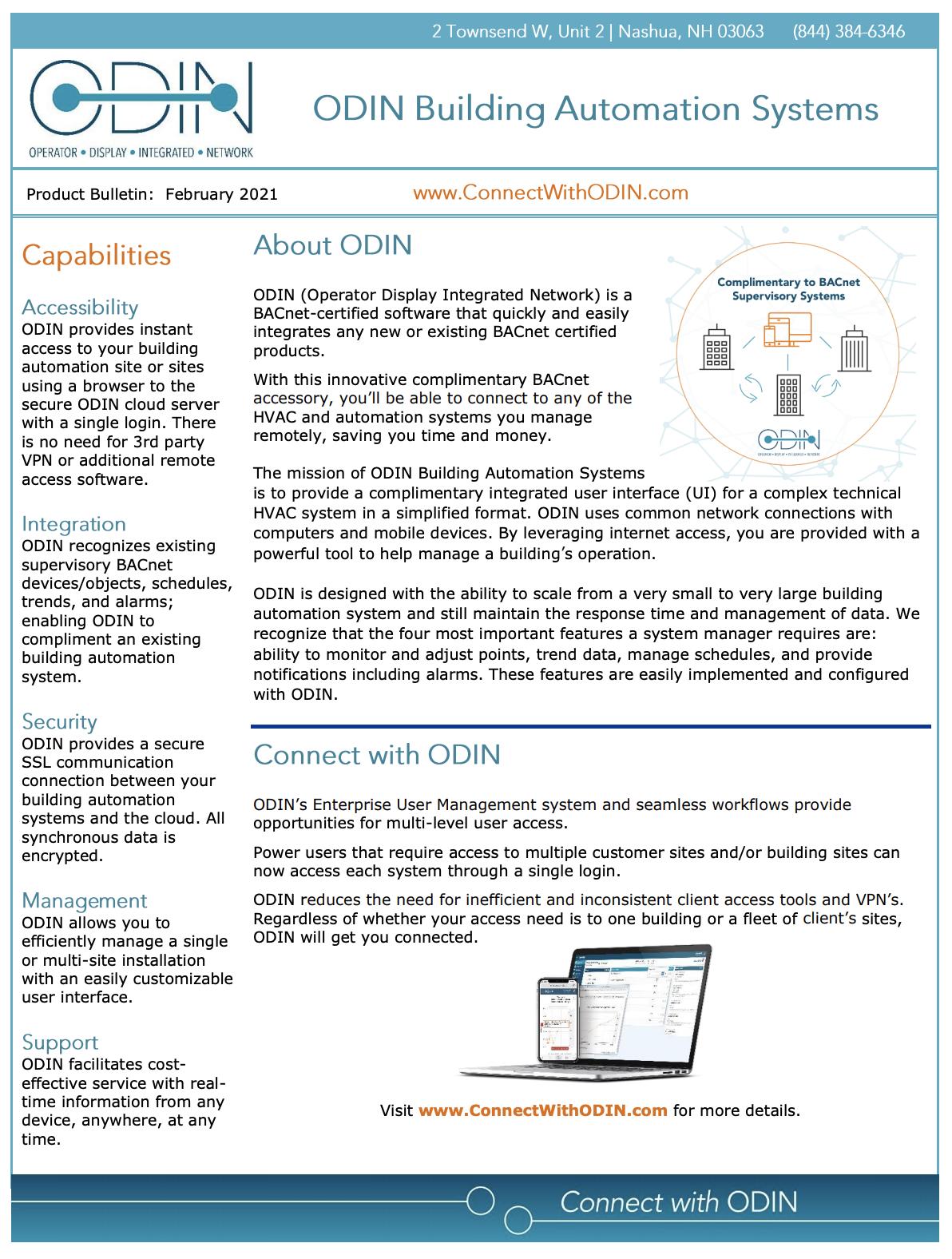 ODIN Data Bulletin Preview